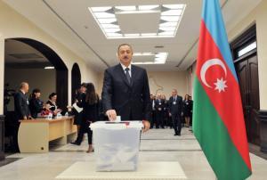 Azərbaycan prezidenti parlament seçkilərində səs verib